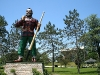 "Paul Bunyan with the ""historic"" Civic Center"